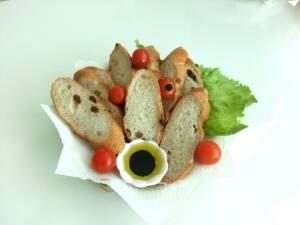 Aceite de oliva con pan.